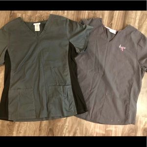 Other - Pair of XL scrub tops and L scrub pants